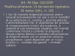 art 40 dlgs 150 2009 modifica all articolo 19 del decreto legislativo 30 marzo 2001 n 165