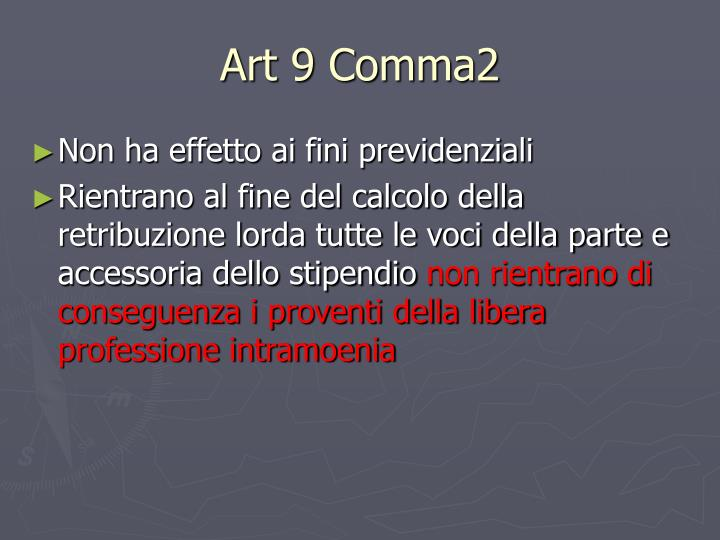Art 9 Comma2