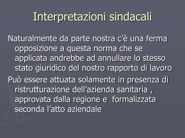 Interpretazioni sindacali