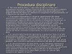 procedura disciplinare1