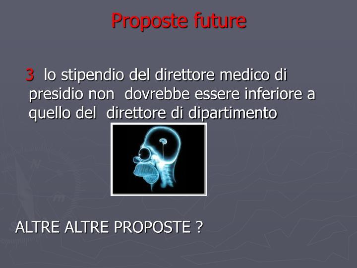 Proposte future