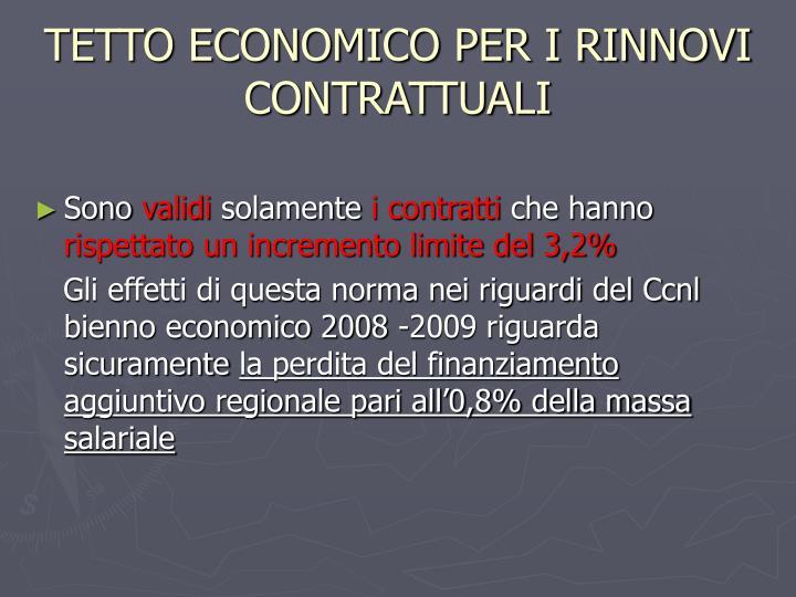 TETTO ECONOMICO PER I RINNOVI