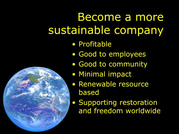 Become a more sustainable company