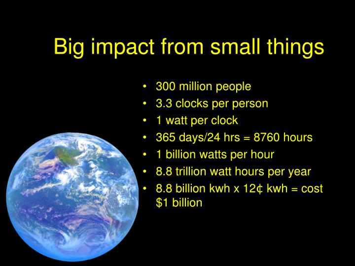 Big impact from small things