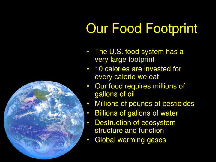 Our Food Footprint