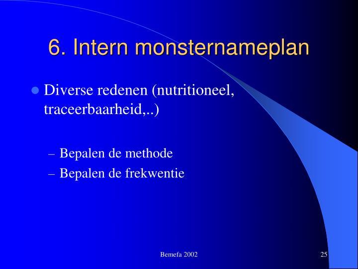 6. Intern monsternameplan