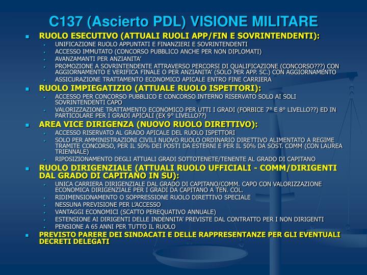 C137 (Ascierto PDL) VISIONE MILITARE