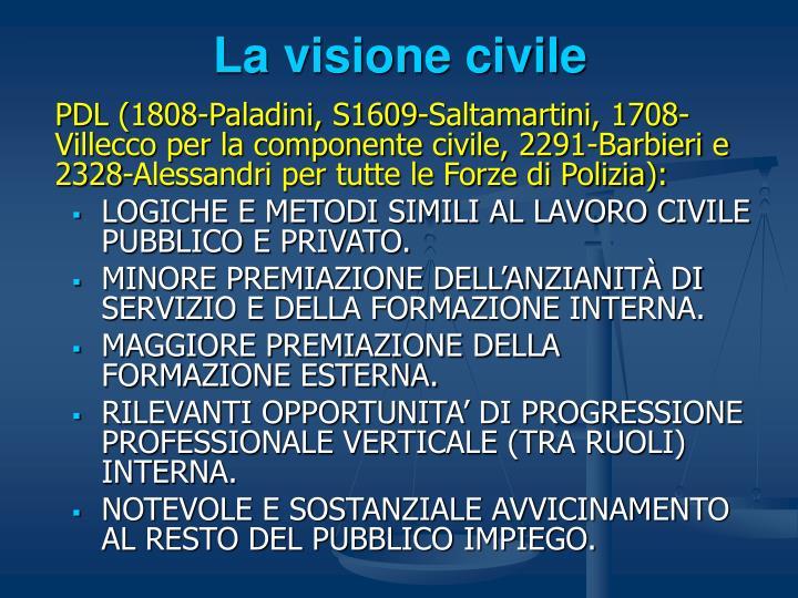 La visione civile