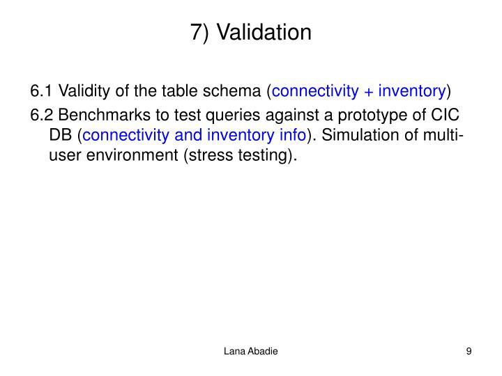 7) Validation