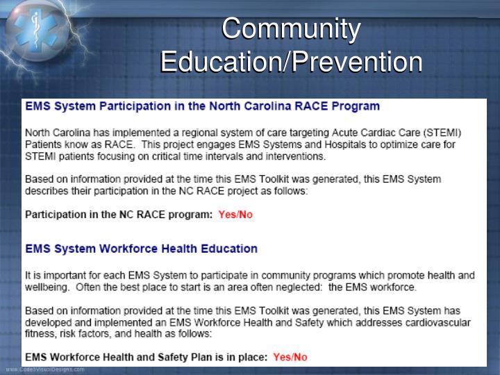 Community Education/Prevention