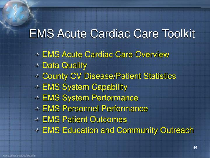 EMS Acute Cardiac Care Toolkit