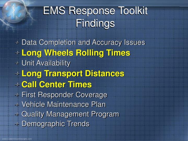 EMS Response Toolkit