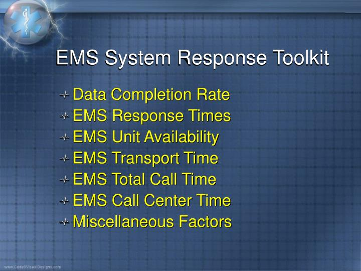 EMS System Response Toolkit
