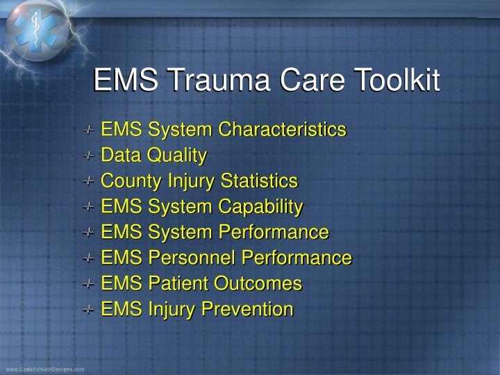 EMS Trauma Care Toolkit
