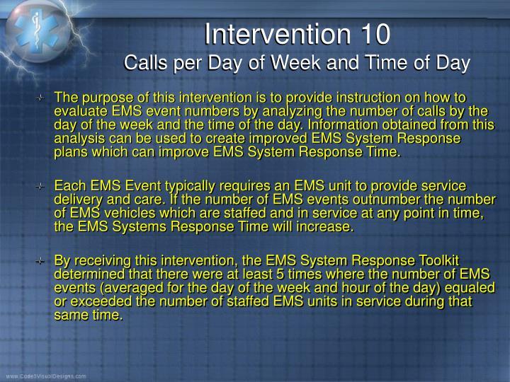 Intervention 10