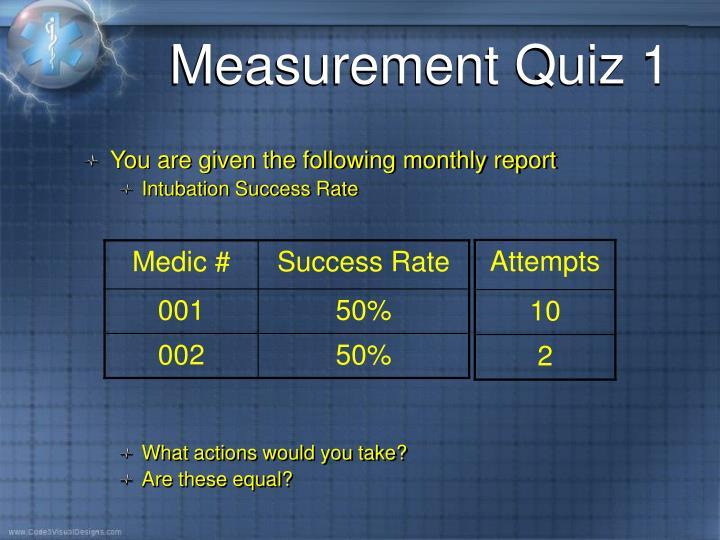 Measurement Quiz 1