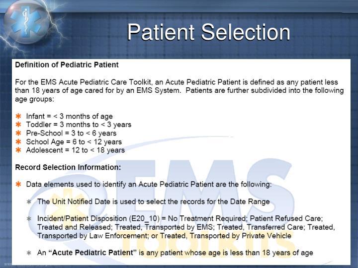 Patient Selection