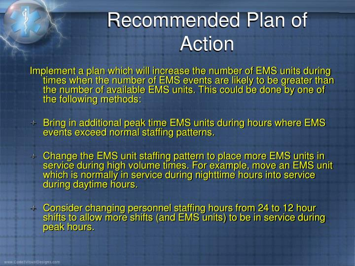 Recommended Plan of Action
