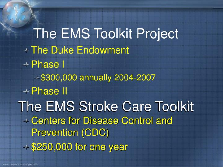 The EMS Stroke Care Toolkit