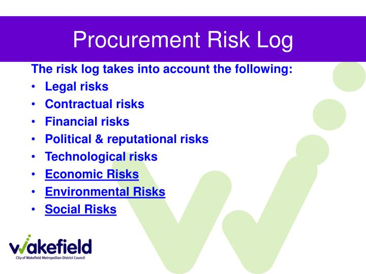 Procurement Risk Log