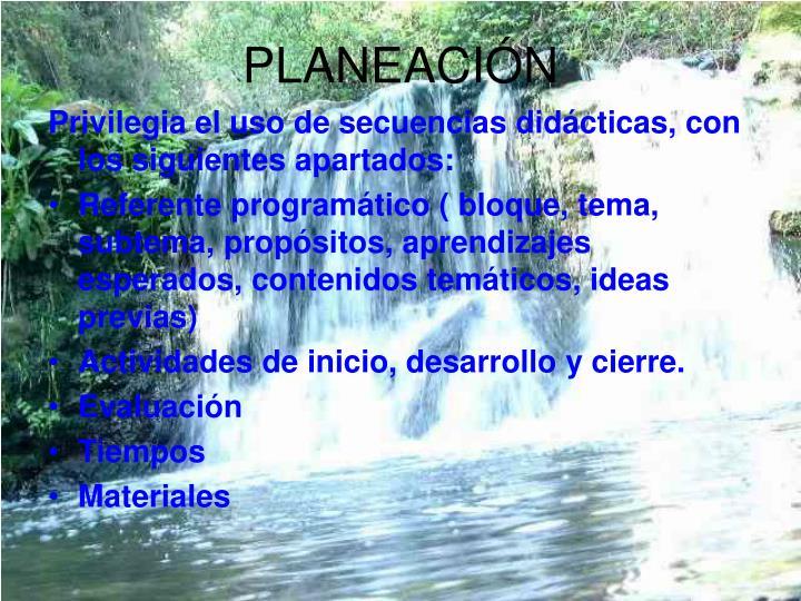 PLANEACIÓN