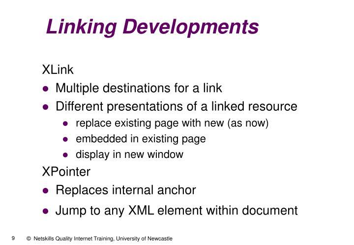 Linking Developments