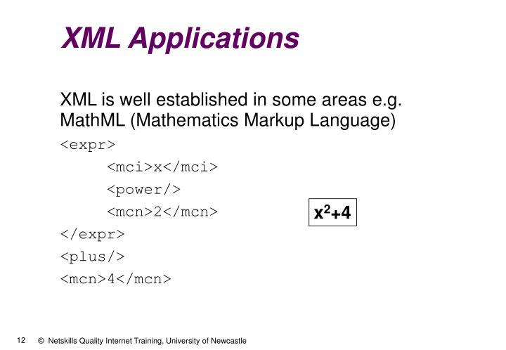 XML Applications