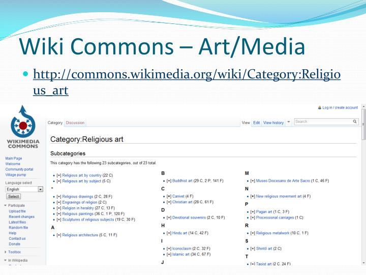 Wiki Commons – Art/Media