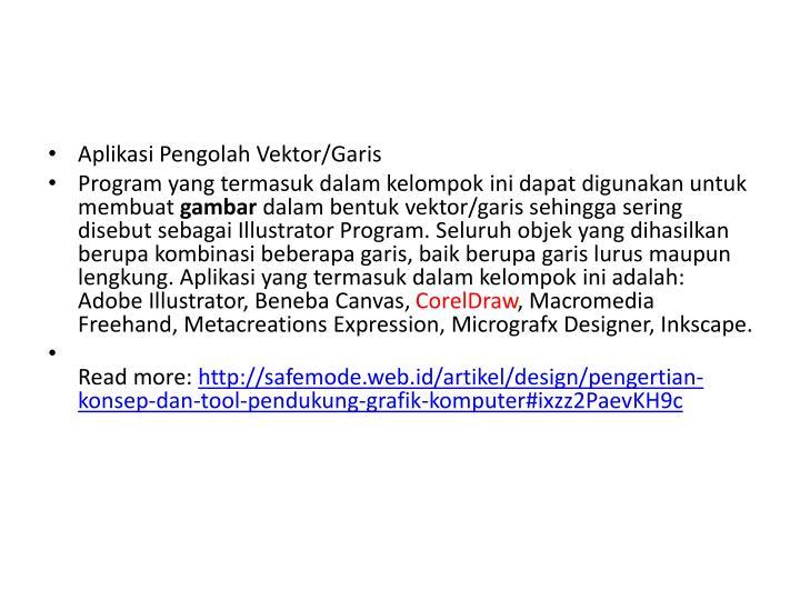Aplikasi Pengolah Vektor/Garis