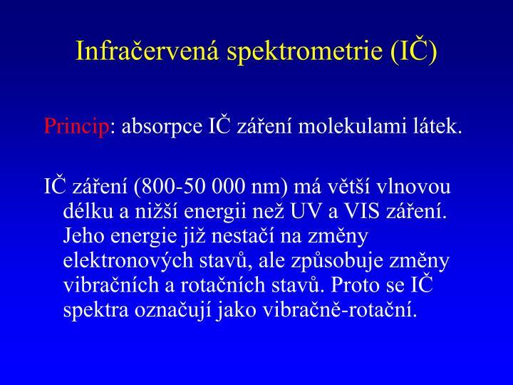 Infračervená spektrometrie (IČ)