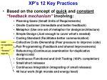 xp s 12 key practices