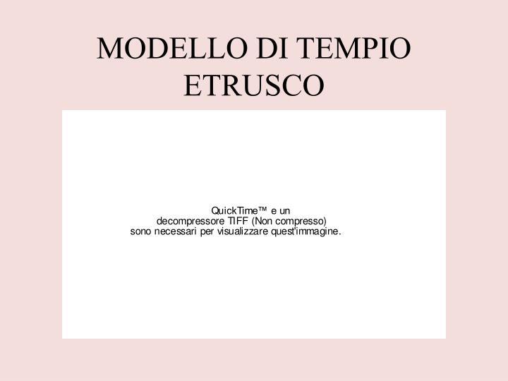 MODELLO DI TEMPIO ETRUSCO