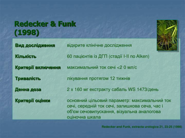 Redecker & Funk (1998)