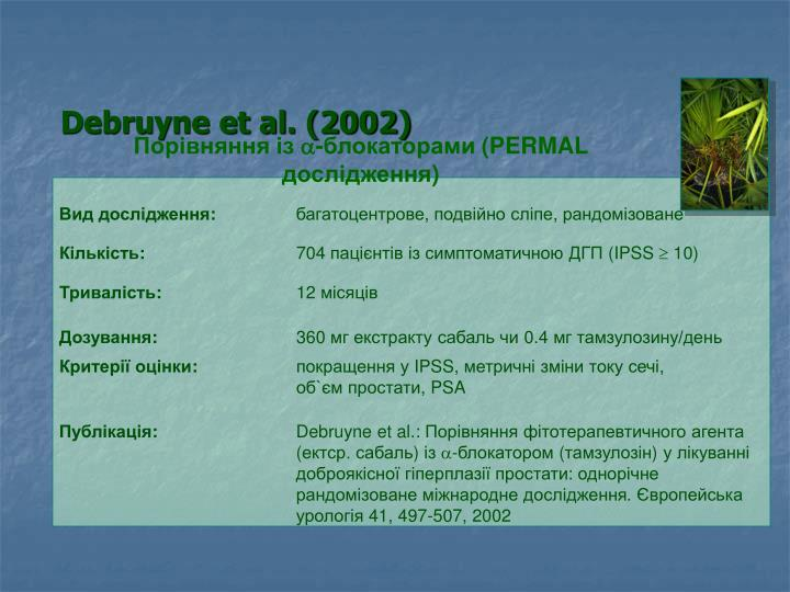Debruyne et al. (2002)