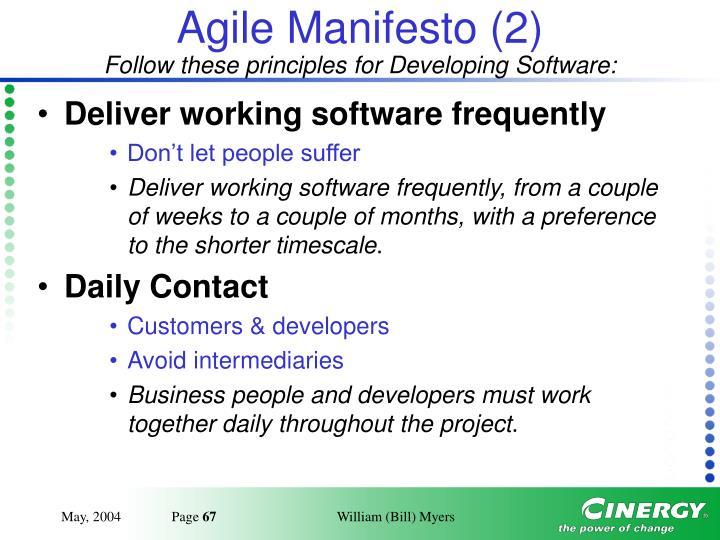 Agile Manifesto (2)