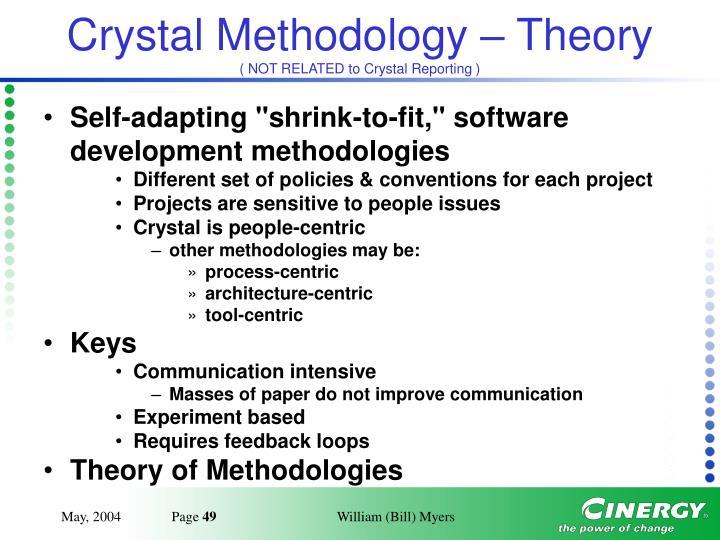 Crystal Methodology – Theory