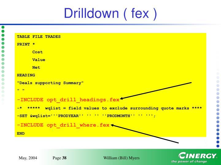 Drilldown ( fex )