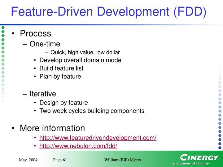 Feature-Driven Development (FDD)