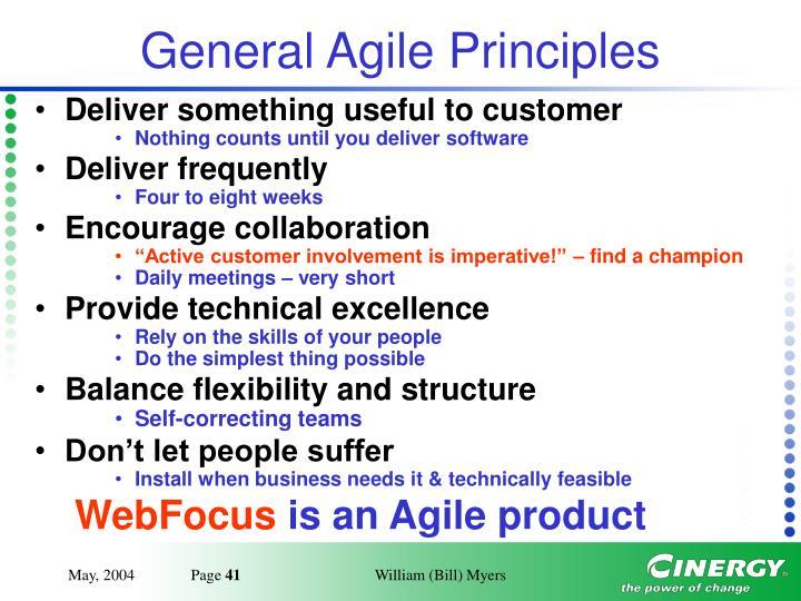 General Agile Principles
