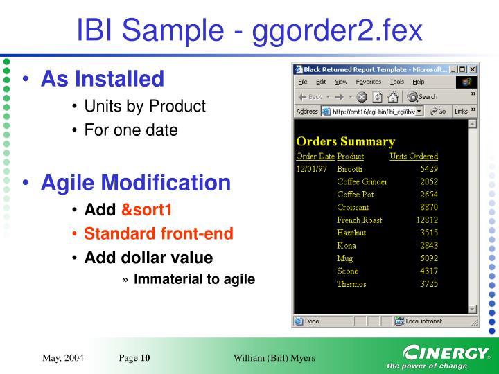 IBI Sample - ggorder2.fex