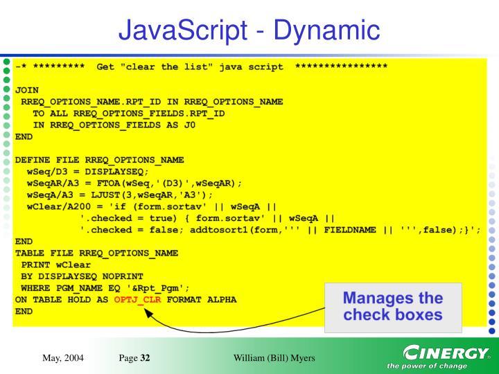 JavaScript - Dynamic