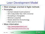 lean development model