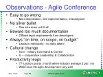 observations agile conference