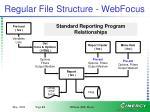 regular file structure webfocus