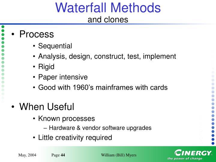 Waterfall Methods