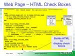 web page html check boxes