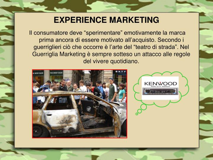 EXPERIENCE MARKETING