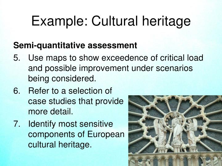 Example: Cultural heritage