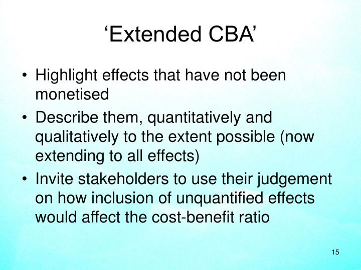'Extended CBA'