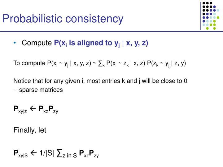 Probabilistic consistency